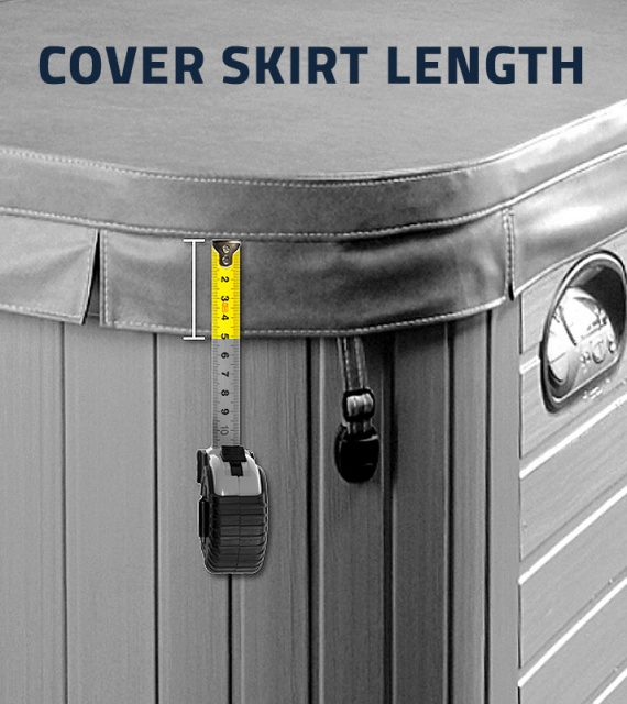 Measuring Cover Skirt Length